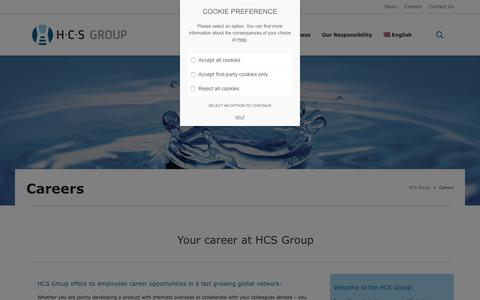 Screenshot of Jobs Page h-c-s-group.com - Careers - HCS Group - captured July 14, 2018