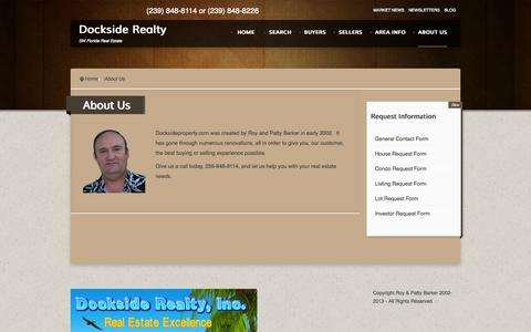 Screenshot of About Page docksideproperty.com - About Us - captured Oct. 5, 2014