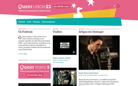 Screenshot of Home Page queerlisboa.pt - Queer Lisboa   Festival Internacional de Cinema Queer - captured Nov. 11, 2018