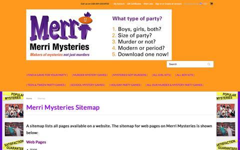 Screenshot of Site Map Page merrimysteries.com - Sitemap - captured Oct. 18, 2017
