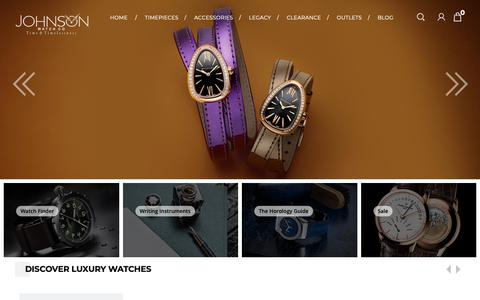 Screenshot of Home Page johnsonwatch.com - Johnson Watch Co   Top Luxury Watch Retailer in Delhi since 1950 - captured Oct. 14, 2018