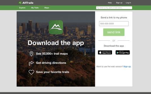 Screenshot of alltrails.com - Outdoors Mobile Apps | AllTrails.com - captured March 19, 2016