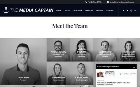 Screenshot of Team Page themediacaptain.com - Meet The Media Captain Team - captured Feb. 4, 2018