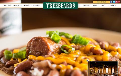 Screenshot of Contact Page treebeards.com - Treebeards | Texas Restaurants | Home Cooked Food - captured Aug. 15, 2015