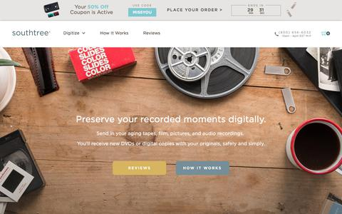 Screenshot of Pricing Page southtree.com - Southtree | Convert Home Movies to DVD - captured Jan. 7, 2018
