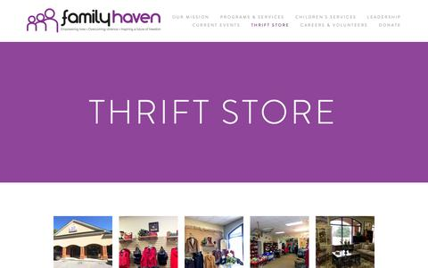 Screenshot of Contact Page forsythcountyfamilyhaven.info - Thrift Store — Forsyth County Family Haven - captured Oct. 10, 2018