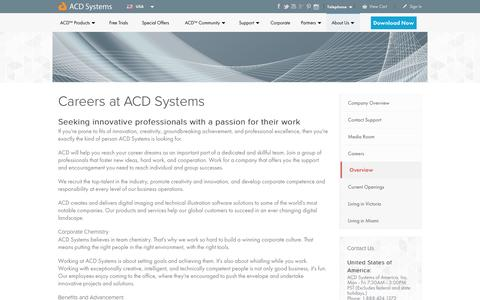 Screenshot of Jobs Page acdsee.com - Careers - About - ACD Systems - captured Jan. 14, 2016