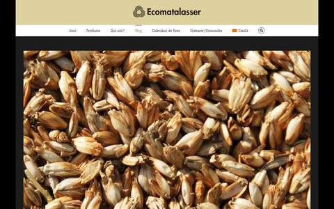Screenshot of Blog ecomatalasser.cat - Blog - Ecomatalasser - captured July 19, 2015