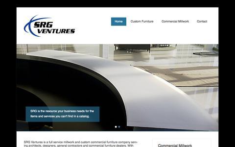 Screenshot of Home Page Menu Page srgcustom.com captured Oct. 3, 2014