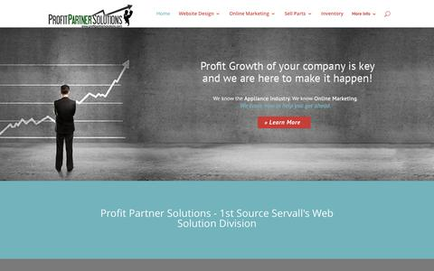 Screenshot of Home Page profitpartnersolutions.com - Profit Partner Solutions - 1st Source Servall's online marketing arm. - captured May 23, 2017