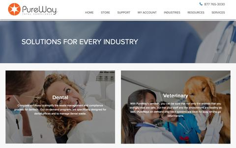 Screenshot of Services Page pureway.com - Products and Services - PureWay - captured Sept. 30, 2018