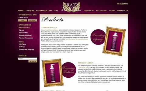Screenshot of Products Page crazy-angel.co.uk - Crazy Angel - Product - captured May 14, 2016