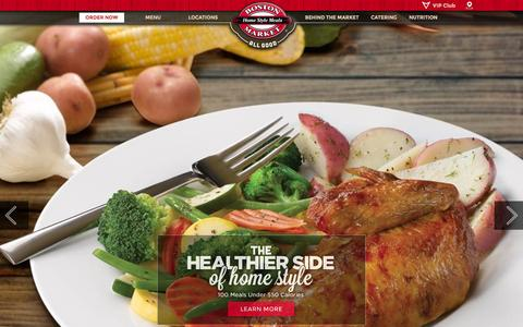 Screenshot of Home Page bostonmarket.com - Rotisserie Chicken & Local Catering - Boston Market - captured Jan. 7, 2016