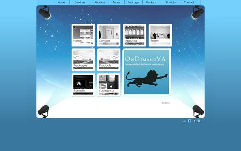Screenshot of Home Page ondemandva.com - Virtual Assistant   Secretary Services   Online Virtual Assistants   Virtual Online Assistant - captured Sept. 30, 2014