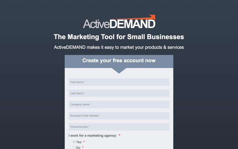 ActiveDEMAND Small Business Marketing Free Trial