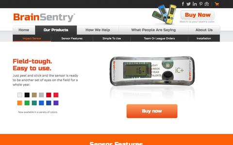 Screenshot of Products Page brainsentry.com - Products - Brain Sentry - captured Oct. 28, 2014