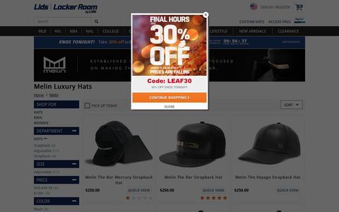 Melin Luxury Hats - Designer Leather Snapback Hats | lids.com