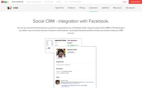 Social CRM - Facebook Integration - Zoho CRM