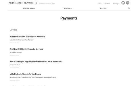 payments – Andreessen Horowitz