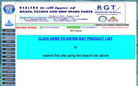 Screenshot of Products Page rakesh-marine.com - RGT Products - RGT Marine - captured Dec. 19, 2016