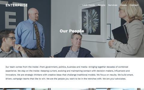 Screenshot of Team Page enterprisecanada.com - People – Enterprise - captured May 19, 2017