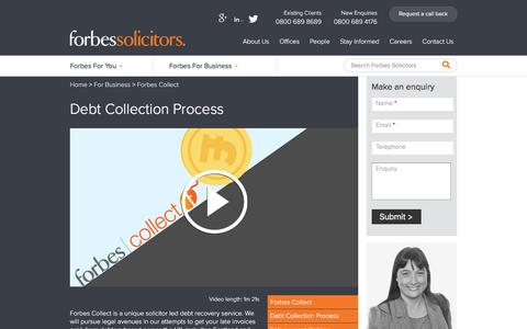 Debt Collection Process | Our No recovery no fee standard service