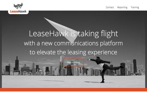 Screenshot of Home Page leasehawk.com - LeaseHawk - captured June 17, 2015