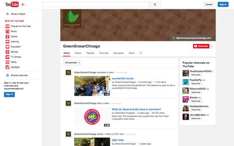 Screenshot of YouTube Page youtube.com - GreenGrocerChicago  - YouTube - captured Oct. 23, 2014