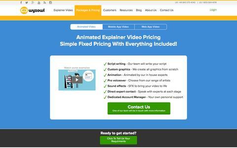 Screenshot of Pricing Page wyzowl.com - Pricing | Wyzowl - captured Nov. 23, 2015