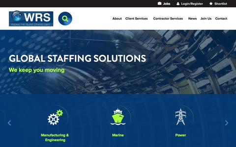 Screenshot of Home Page worldwide-rs.com - Home Page | Worldwide Recruitment Solutions (WRS) - captured Oct. 20, 2016