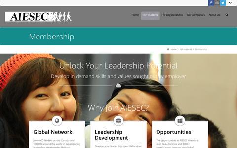 Screenshot of Signup Page aiesec.no - Membership - captured Nov. 2, 2014