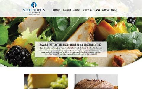 Screenshot of Products Page southlincsfoodservice.co.uk - Product Range - captured Aug. 16, 2015