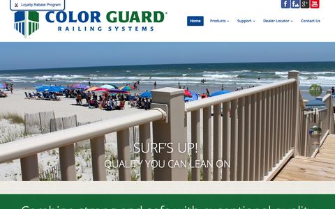 Screenshot of Home Page Testimonials Page colorguardrailing.com - Color Guard Railing Systems. Virtually maintenance free. - captured Oct. 1, 2014