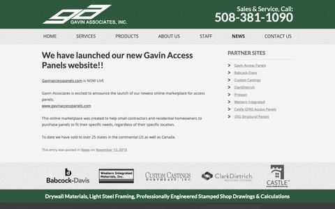 Screenshot of Press Page gavinassociates.com - News - Gavin Associates - captured Sept. 27, 2018