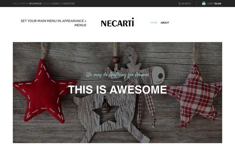 Screenshot of Home Page necarti.com - Necarti | Real Leather Goods & Accessories - captured Jan. 12, 2016