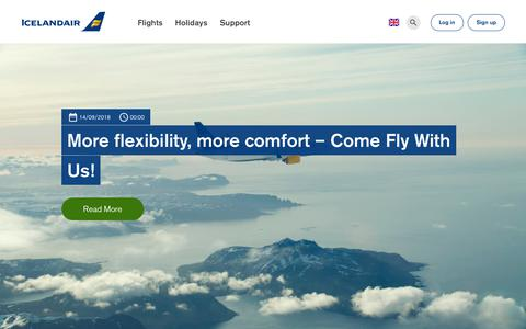 Screenshot of Blog icelandair.com - Blog | Icelandair - captured Sept. 24, 2018