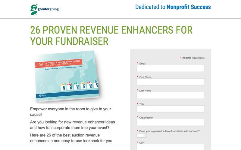 26 Proven Revenue Enhancers for Your Fundraiser