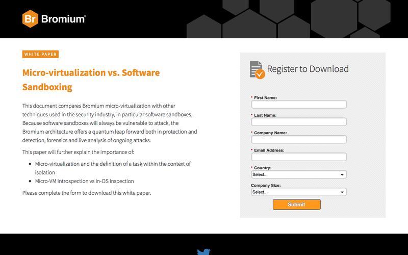 Bromium: White Paper - Micro-virtualization vs. Software Sandboxing