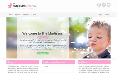 Screenshot of Home Page themadissonagency.com - The Madisson Agency - captured Dec. 17, 2016