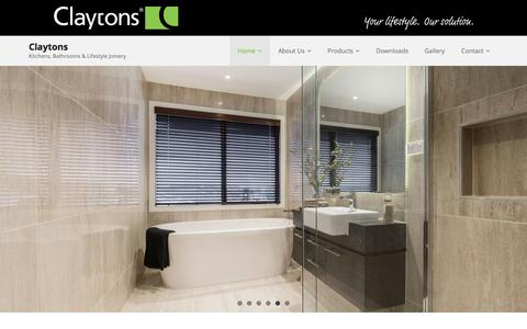 Screenshot of Home Page claytonsgroup.com.au - Claytons   Kitchens, Bathrooms & Lifestyle Joinery - captured July 18, 2018