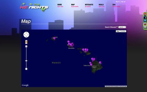 Screenshot of Maps & Directions Page hinights.com - HI Nights  » Map - captured Oct. 7, 2014