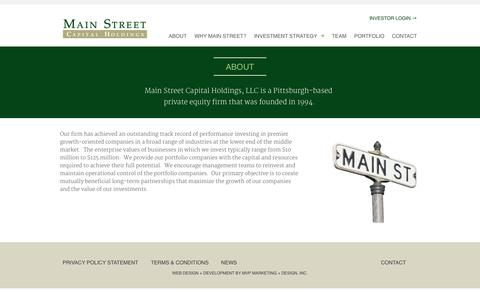 Screenshot of About Page mainstcap.com - About | Main Street Capital - captured Oct. 3, 2014
