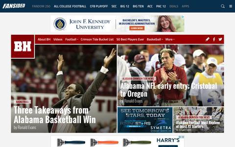 Screenshot of Home Page bamahammer.com - Bama Hammer - An Alabama Crimson Tide Community - News, Blogs, Opinion and more. - captured Jan. 15, 2017