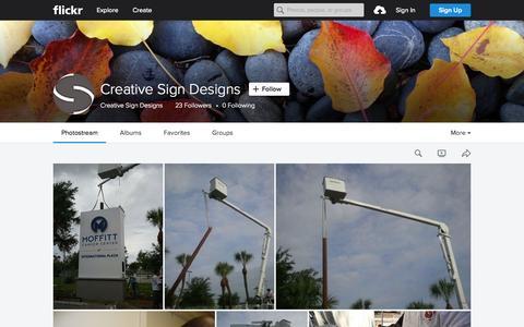 Screenshot of Flickr Page flickr.com - Creative Sign Designs | Flickr - Photo Sharing! - captured Nov. 14, 2015