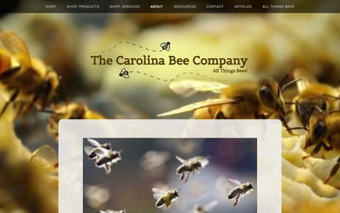 Screenshot of About Page carolinabees.com - About Us — The Carolina Bee Company - captured Oct. 7, 2014