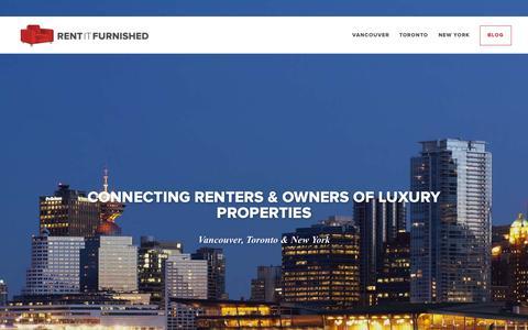 Screenshot of Home Page rentitfurnished.com - Home | Rent It Furnished - captured Oct. 1, 2015