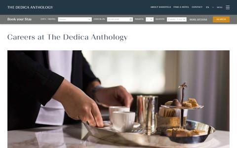 Screenshot of Jobs Page dahotels.com - Careers at The Dedica Anthology | Join the italian Luxury Hotels Chain - captured Sept. 22, 2018