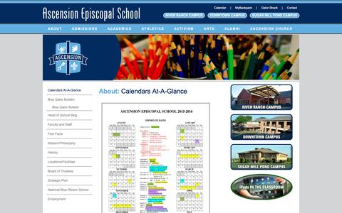 Screenshot of About Page aesgators.org - Calendars      At-A-Glance | Ascension Episcopal School - captured May 19, 2016