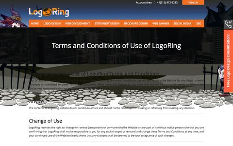 Screenshot of Terms Page logoring.com - Logo Design by Professionals with 100% Satisfaction - captured Oct. 27, 2014