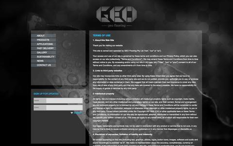 Screenshot of Terms Page geoflooring.com.au - Terms of Use | Geo Flooring - captured Oct. 1, 2014